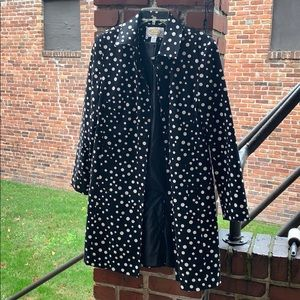Black and White Polkadot Dressy Jacket by Talbots